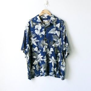 Vintage Pierre Cardin Palm Fronds Hawaiian Shirt